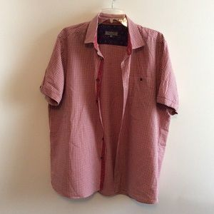 Ted Baker Checkered Short Sleeves Shirt